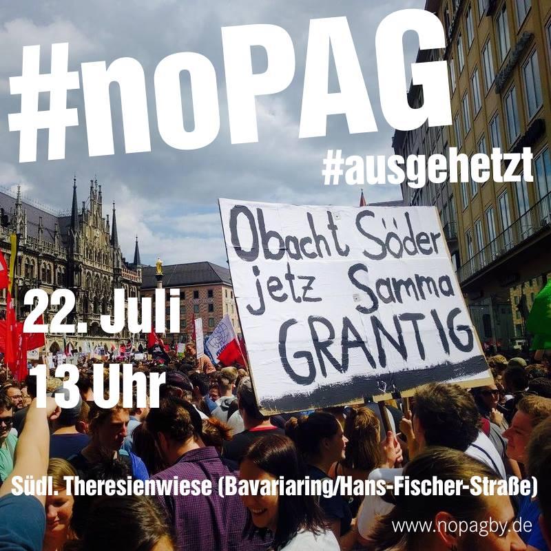 Demo gegen Polzeiaufgabengesetz Bayern